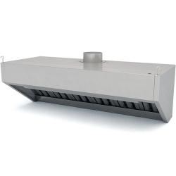 Зонт вентиляционный ЗВН-2/700/1600 (1620х800х505), нерж. сталь, вытяжной, разборный
