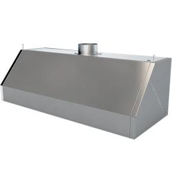 Зонт вентиляционный ЗВН-1/400/1200 (1220х500х400), AISI430, вытяжной, разборный